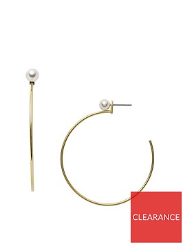 fossil-fossil-vintage-iconic-gold-and-pearl-ladies-hoop-earrings