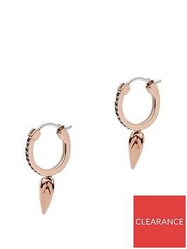emporio-armani-emporio-armani-rose-gold-plated-sterling-silver-and-black-enamel-spearhead-pendant-ladies-huggie-hoop-earrings