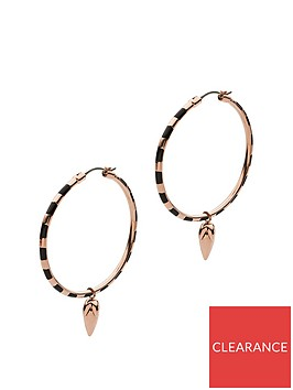 emporio-armani-emporio-armani-rose-gold-plated-sterling-silver-and-black-enamel-spearhead-pendant-ladies-hoop-earrings