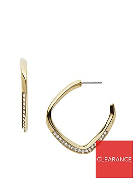 fossil-fossil-gold-geometric-ladies-hoop-earrings