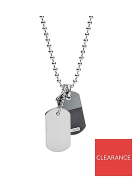 fossil-fossil-vintage-casual-double-dogtag-stainless-steel-mens-necklace