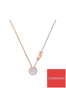 michael-kors-michael-kors-rose-gold-plated-sterling-silver-and-cubic-zirconia-logo-ladies-necklace