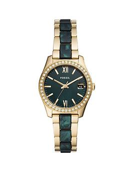 fossil-fossil-scarlette-green-and-gold-detail-date-36mm-dial-two-tone-stainless-steel-bracelet-ladies-watch