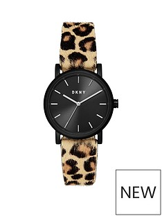 dkny-dkny-soho-black-sunray-and-silver-detail-dial-leopard-print-pony-hair-strap-ladies-watch