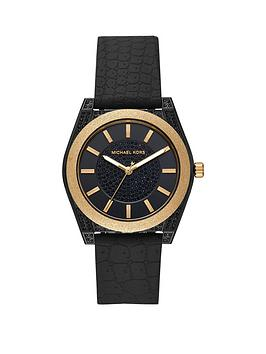 michael-kors-michael-kors-ryder-black-and-gold-glitter-detail-dial-black-silicone-strap-ladies-watch
