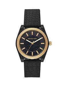 michael-kors-mk6703nbspryder-black-and-gold-glitter-detail-dial-black-silicone-strap-ladies-watch