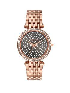 michael-kors-michael-kors-darci-gunmetal-and-crystal-set-sunray-dial-rose-gold-stainless-steel-bracelet-ladies-watch