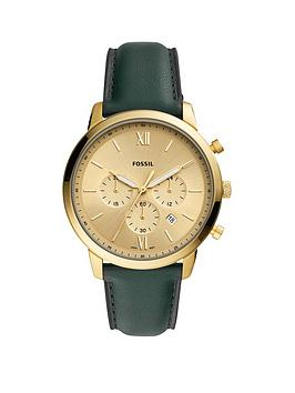 fossil-fossil-neutra-gold-sunray-chronogrpah-dial-green-leather-strap-mens-watch
