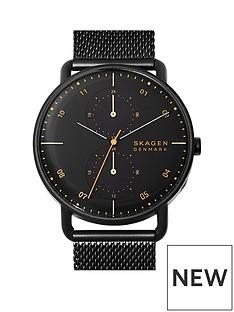 skagen-skagen-horizont-black-dial-black-stainless-steel-mesh-strap-mens-watch