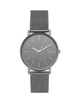 skagen-skagen-signatur-grey-sunray-45mm-dial-grey-stainless-steel-mesh-strap-mens-watch