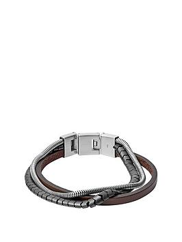fossil-fossil-vintage-casual-silver-and-brown-textured-stainless-steel-mens-bracelet