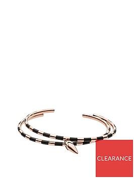 emporio-armani-emporio-armani-rose-gold-plated-sterling-silver-and-black-enamel-spearhead-pendant-ladies-bracelet
