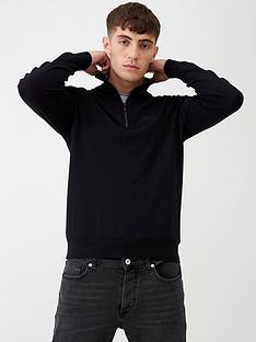 hugo-san-giuseppe-half-zip-jumper-black