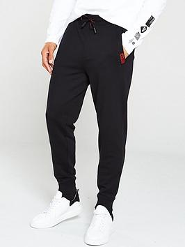 hugo-doak194-cuffed-sweat-pants-black