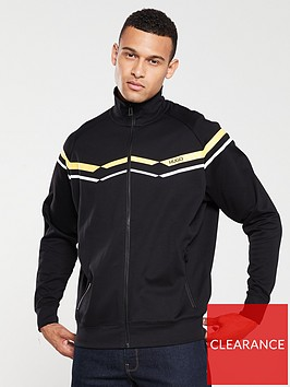 hugo-duxi-chevron-track-top-black