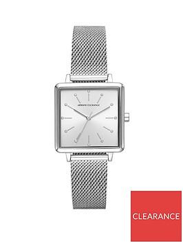 armani-exchange-armani-exchange-silver-sunray-glitz-square-dial-stainless-steel-mesh-strap-ladies-watch