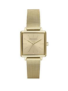 armani-exchange-armani-exchange-gold-sunray-glitz-square-dial-gold-stainless-steel-mesh-strap-ladies-watch