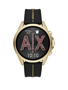 armani-exchange-armani-exchange-gold-full-display-dial-black-silicone-strap-smart-watch