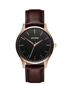 mvmt-mvmt-40-series-black-and-rose-gold-dial-brown-leather-strap-mens-watch