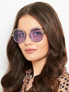 roberto-cavalli-crystal-paved-round-snakenbspsunglasses-purple