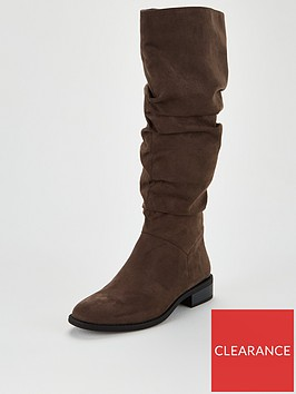 v-by-very-tamsin-knee-high-flat-slouch-boots-grey