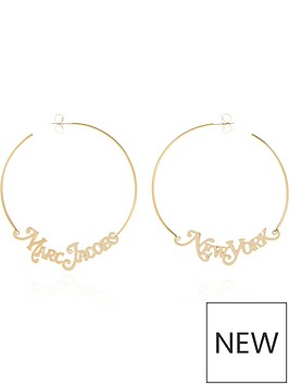 marc-jacobs-the-logo-hoop-earrings-gold