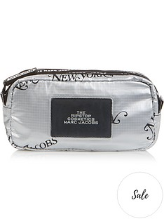 marc-jacobs-the-ripstopnbspcosmetics-metallicnbsplogo-pouch-silver