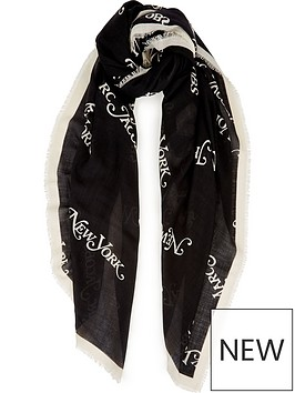 marc-jacobs-the-marc-jacobs-ny-scarf-black
