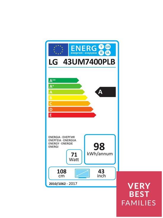 LG 43UM7400PLB 4K Active HDR UHD TV with Advanced Colour Enhancer