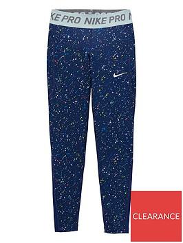 nike-girls-starry-night-printed-pro-legging-navy