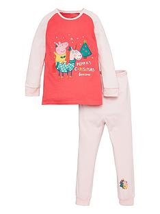peppa-pig-toddler-girls-christmas-unicorn-pyjamas-pink