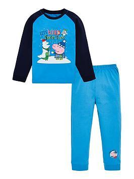 peppa-pig-toddler-boys-george-pig-christmas-snowdino-pyjamas-blue
