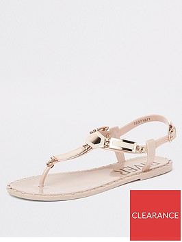 river-island-river-island-studded-jelly-sandals-light-pink