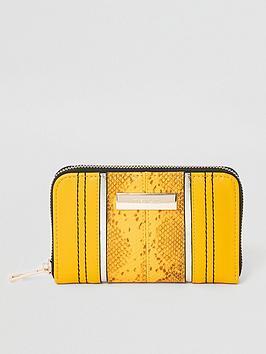 river-island-river-island-animal-print-zip-around-purse-yellow