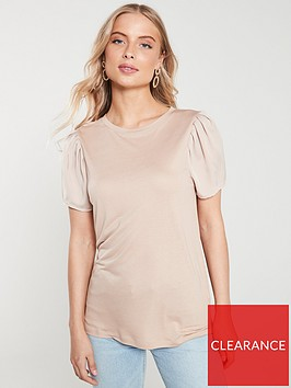river-island-river-island-woven-sleeve-t-shirt--light-pink