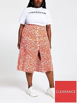ri-plus-ri-plus-printed-button-down-midi-skirt--red