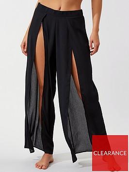 boux-avenue-split-front-beach-trousers-black