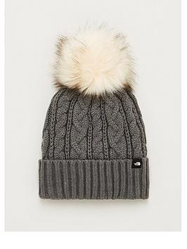 the-north-face-oh-mega-faux-fur-pom-beanie-hat-medium-grey-heathernbsp
