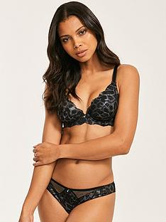 figleaves-juliette-lace-animal-foil-brazilian-brief-black