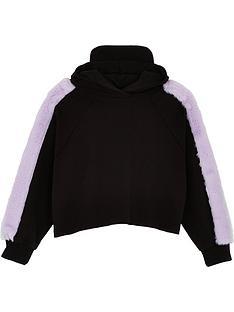wauw-capow-by-bang-bang-copenhagen-girls-lucca-faux-fur-hoodienbsp--black