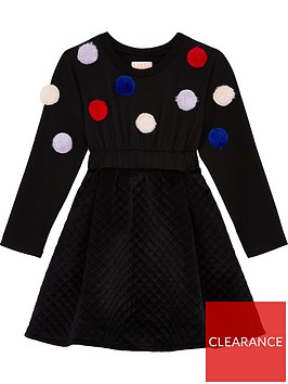 wauw-capow-by-bang-bang-copenhagen-flora-flow-pom-pom-dress-black