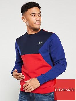 lacoste-sport-colour-block-sweatshirt-bluered