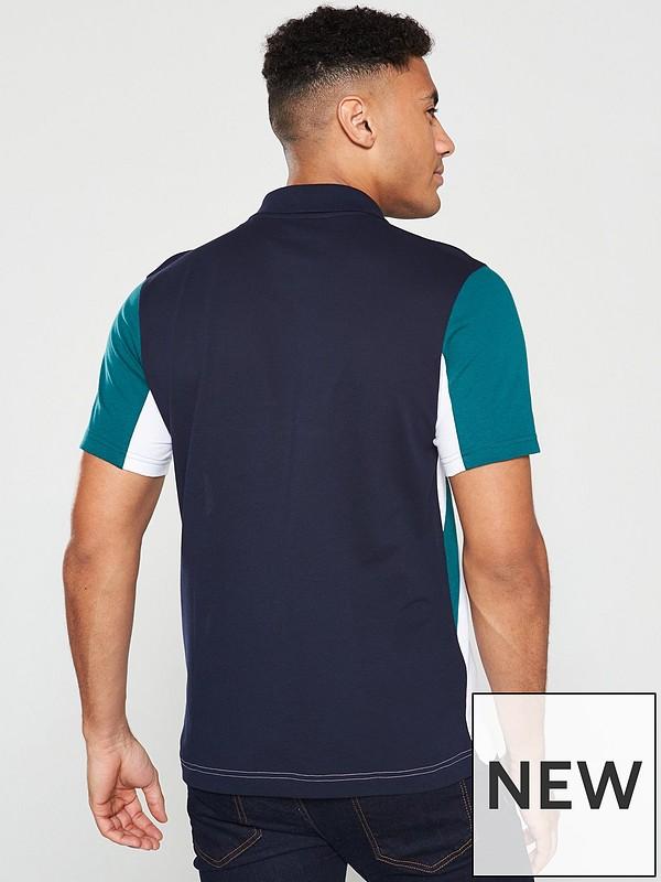 ba298569 Sport Colour Block Polo Shirt - White/Navy/Green