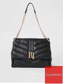 river-island-river-island-quilted-shoulder-bag-black