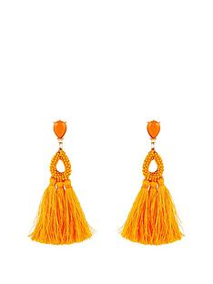 kate-wright-neon-tasselnbspearrings-orange
