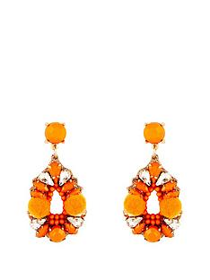kate-wright-pom-pom-jewelled-earrings-orange