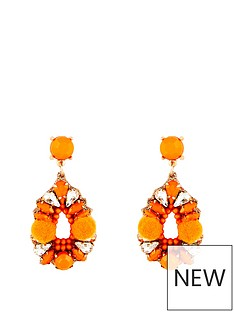 kate-wright-pom-pom-jewelled-earrings-orange