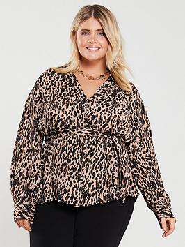 v-by-very-curve-leopard-button-through-blouse-animal-print