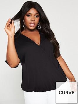 v-by-very-curve-jersey-wrap-top-black
