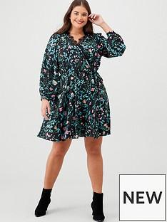 v-by-very-curve-lace-trim-printed-wrap-tea-dress-floral-print